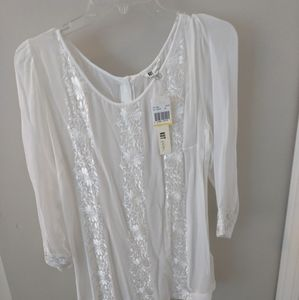 Sheer white top - kut from the kloth